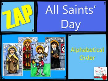 Mini ZAP All Saints Day Alphabetical Order