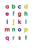 Mini alphabet colored letters lowercase