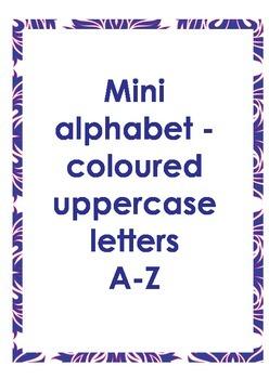 Mini alphabet colored letters uppercase