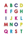 Mini alphabet colored letters uppercase