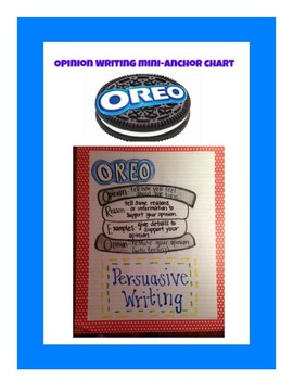 Mini anchor chart for Opinion
