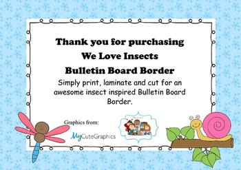 Mini-beast Insect Bulletin Board Border