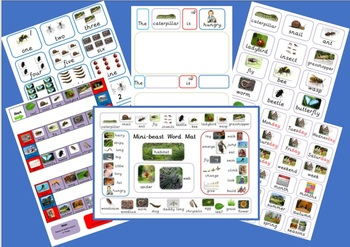Mini-beasts Resource (linked to The Hungry Caterpillar by Eric Carle )