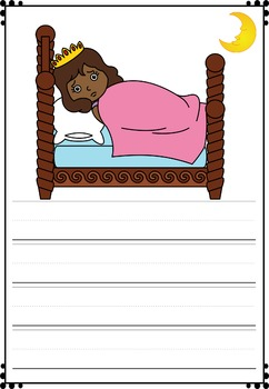 Mini-book : The Princess and the Pea - African American : Primary Lines