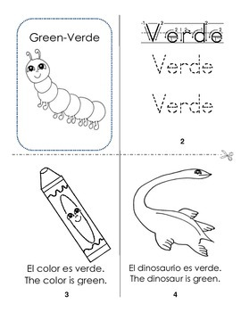 Mini book foldable about colors.