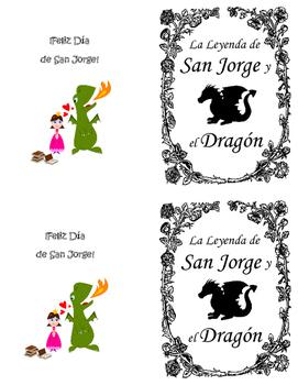Mini-book for El Dia de la Rosa y del Libro Spanish Class