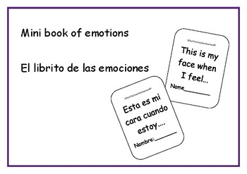 Mini book of emotions- El librito de las emociones.