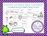 French Alphabet Mini-books for letters/petits livres des lettres