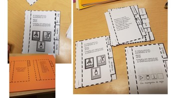 Mini-books with definitions for teaching Literature in Spanish.