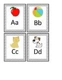 Mini chevron alphabet cards with pictures
