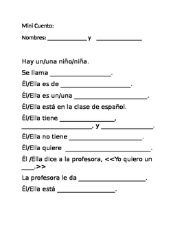 Mini- cuento TPRS template