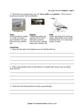Mini-guide for Juniors: The Light at Tern Rock Workbook
