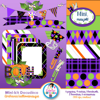 Mini-kit Docudéco Ambiance halloweenesque