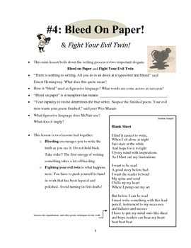 Mini-lesson #4 - Bleed on Paper