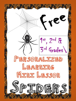 Mini-lesson Personalized Learning Spider Investigation *HALLOWEEN*