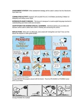 Mini-lesson Teaching Past Tense (ed) using comics