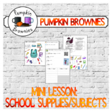 Mini lesson: school supplies and school subjects
