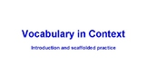 Mini lesson to introduce vocabulary in context