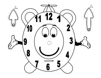Mini libro de actividades sobre : El reloj