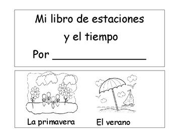 Mini libro de estaciones y e tiempo  / Mini book of seasons