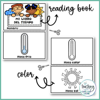 Mini libro del tiempo (My Weather Mini Book in Spanish)