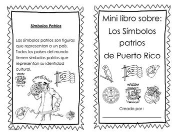 Mini libro sobre: Símbolos patrios de Puerto Rico