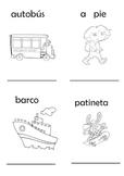 Mini libro transporte- Spanish mini book of transport