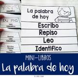 "Mini libros ""La palabra de hoy""-  [m, p, s, n, t, l, d, c, r]"