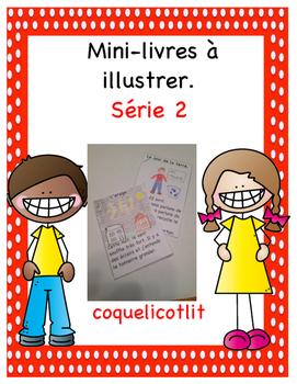 Mini-livres à illustrer - Série 2