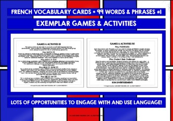 FRENCH VOCABULARY PRACTICE & REVISION #1