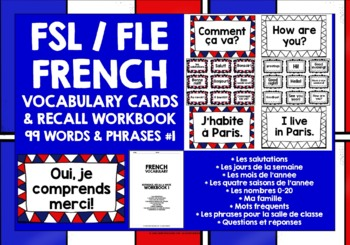 FRENCH VOCABULARY (1) - 99 WORDS/PHRASES - GAMES & ACTIVITIES