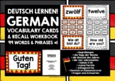 GERMAN VOCABULARY CARDS WITH REFERENCE & RECALL WORKBOOK #1