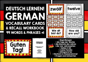 GERMAN VOCABULARY (1) - GAMES & ACTIVITIES - 99 WORDS/PHRASES
