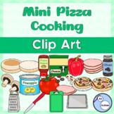 Mini pizza cooking clipart