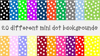 Mini polka dot backgrounds