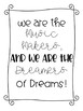 Mini posters-Quotes from Willy Wonka and the Chocolate Factory.