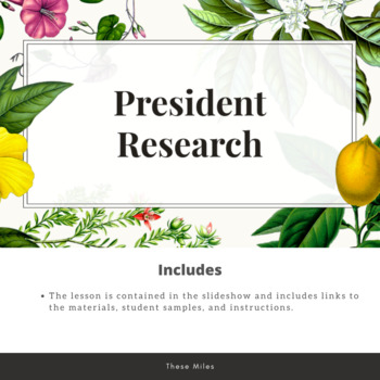 Mini-research Project: Choose a President