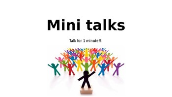 Talk for 1 Minute! Conversation Practice Powerpoint- Beginner