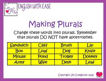 Spelling Pack 1 - adding ing, homophones, plurals, prefixes & shun suffixes