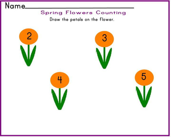 Mini spring math pack