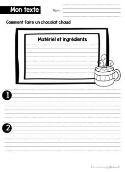 Mini trousse d'activités : Mon chocolat chaud