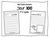Mini trousse d'écriture pour le Jour 100 FRENCH WRITING ACTIVITIES