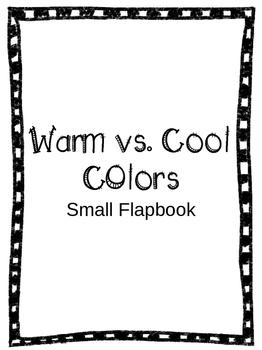 Mini warm vs. cool colors flapbook
