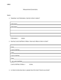 Mini word problems: measurement conversion practice sheets!