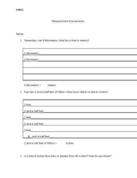 Mini word problems: measurement conversion practice sheets!