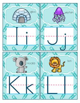 Mini word wall alphabet