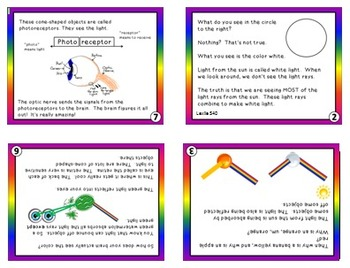 MiniBooks HOW WE SEE COLOR Differentiated for 540 and 450 Lexile Bands
