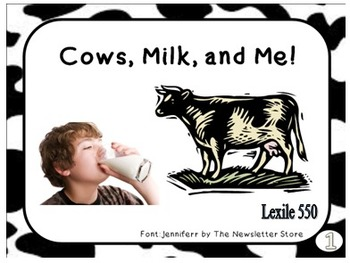 MiniBooks MILK AND ME Differentiated for 150 and 550 Lexile Band