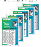 MiniGRAPH: 5 Post-It Note Pads with Pre-Printed 4 Quadrant Graph Templates