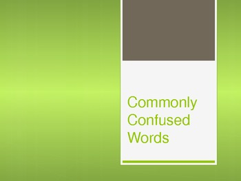 MiniLessons on Commonly Confused Words